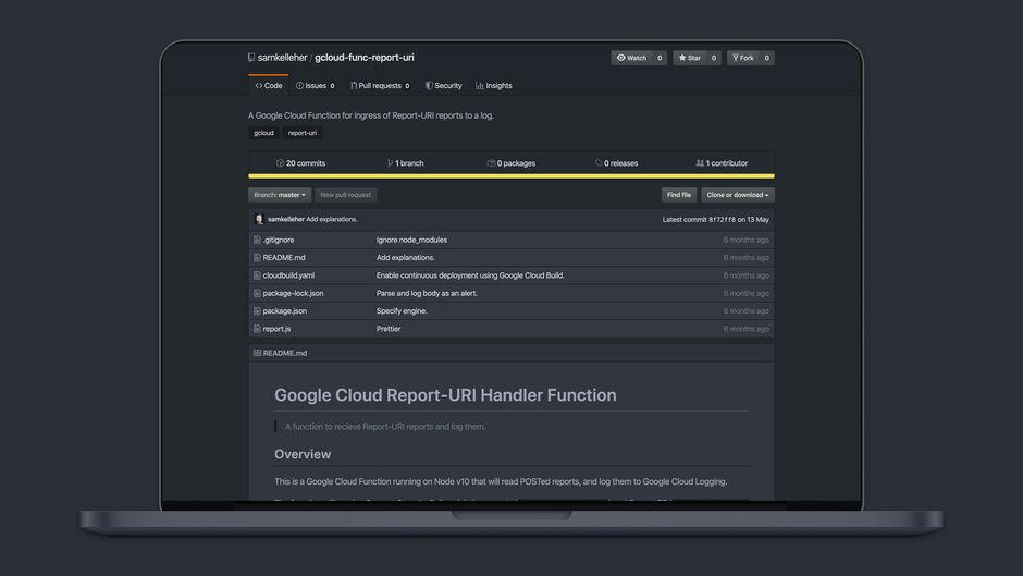 Google Cloud Report-URI Function Handler