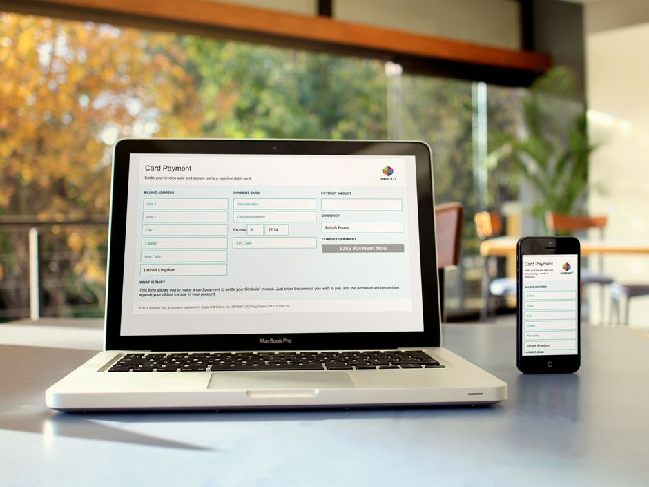 Quick and easy credit card payment page